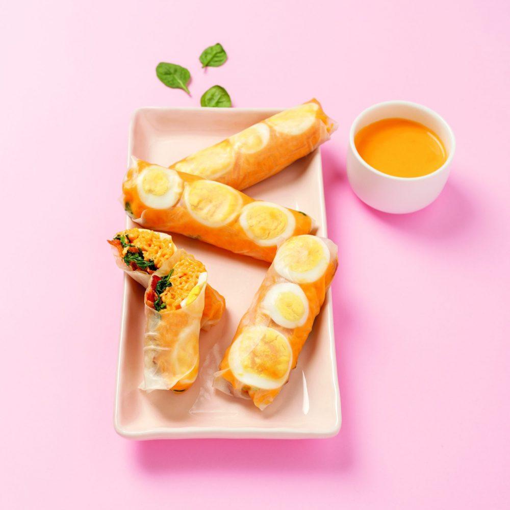 MS0101_Rouleaux de printemps aux oeufs et ramen fromagé