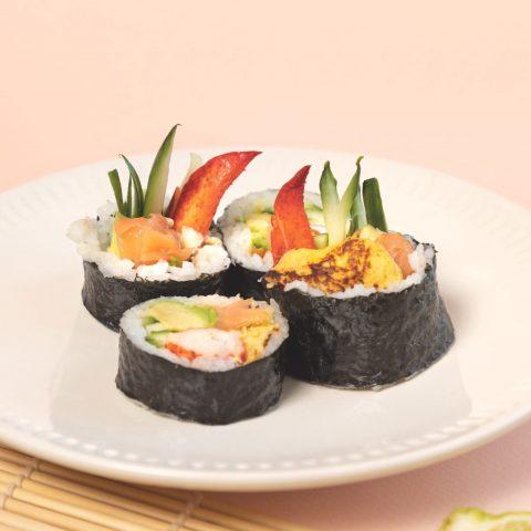 MS0102-Makis à l'omelette japonaise, homard et pavé de saumon